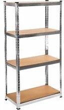 Tectake - Garage shelving unit 4 tier - metal