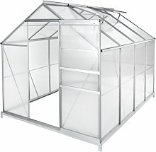 Tectake - Greenhouse aluminium polycarbonate with