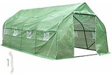 Tectake - Greenhouse polytunnel tent - polytunnel,