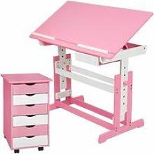 Tectake - Kids desk + filing cabinet - childrens