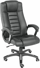 Tectake - Luxury office chair made of black