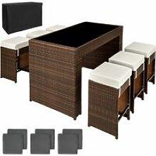 Tectake - Rattan garden furniture bar set Capri
