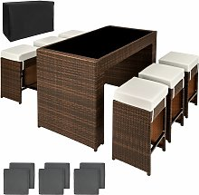 Tectake - Rattan garden furniture bar set Capri