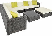 Tectake - Rattan garden furniture lounge Marbella