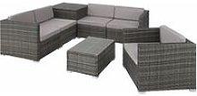 Tectake - Rattan garden furniture lounge Pisa -