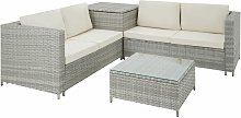 Tectake - Rattan garden furniture lounge Siena -