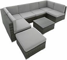 Tectake - Rattan garden furniture lounge Venice -