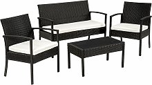 Tectake - Rattan garden furniture set Sparta 3+1 -