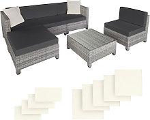 Tectake - Rattan garden furniture set with