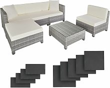 Tectake - Rattan garden furniture set with