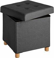 Tectake - Stool Alea in upholstered linen look -