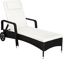 Tectake - Sun lounger rattan - reclining sun