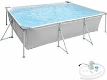 Tectake - Swimming pool rectangular with pump 300