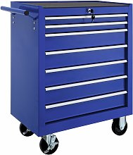 Tectake - Tool chest with 7 drawers - tool box,