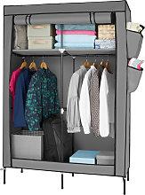 Tectake - Wardrobe Anna - corner wardrobe, grey