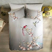 Ted Baker Flight of the Orient Cotton Bedding, Grey