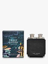 Ted Baker Polished Stainless Steel Double Hip Flask