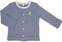 Teddley London Organic Cardigan - Navy Blue Stripes