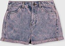 TEEN Pink Acid Wash Denim Shorts - 12 years