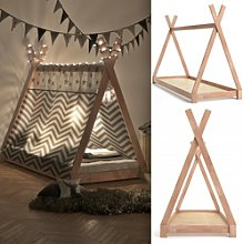 Teepee Tent Bed Frame Wooden Children Cabin Bed