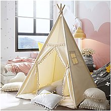 Teepee Tent for Kids, 47.2x47.2x59inch, Natural