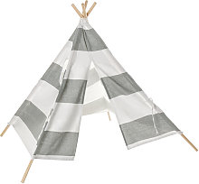 Teepee Tent Kids Cotton Canvas Pretend Play