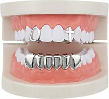 Teeth Caps Gold Plated Hip Hop Bling Tooth Set