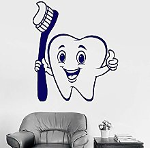 Teeth Vinyl Wall Decals Positive Cartoon Room