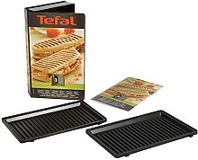 Tefal XA800312 Panini Plates Set, Non-Stick, Snack