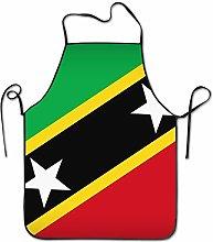 TEIJWET St.Kitts And Nevis Large Flag Aprons Bib