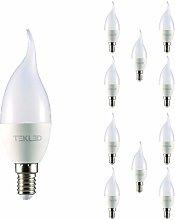 TEKLED® C37 LED Bulbs | Flame Tip Candle E14