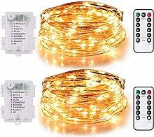 TEKLED® String Fairy Lights | 100 LED [2 Pack]