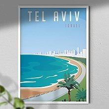 Tel Aviv Poster - Israel Print | Travel Print |