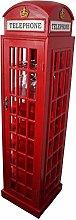 Telephone Box Wine Cabinet Wooden Wine Rack