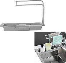Telescopic Sink Holder, Expandable Storage Drain