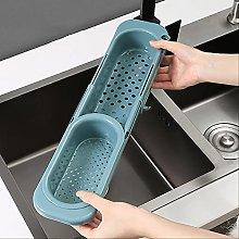 Telescopic Sink Rack Soap Sponge Holder Kitchen