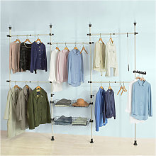 Telescopic Wardrobe Organiser Adjustable Shelf