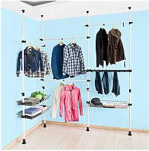 Telescopic Wardrobe Organiser Clothes Rack, FRG38