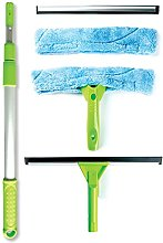 Telescopic Window Cleaning Kit with Super Squeegee