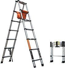 Telescoping Ladder 1.4+1.4M Aluminum Telescopic A