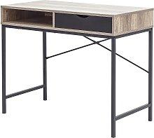 Telford 1 Drawer Desk - Dark Oak