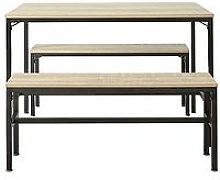 Telford Dining Table With 2 Benches