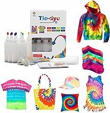 Telisii Tie Dye DIY Kit, Tie Dye Shirt Fabric Dye