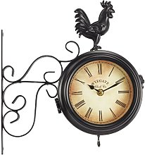 Tellez Wall Mounted Rooster Clock Sol 72 Outdoor