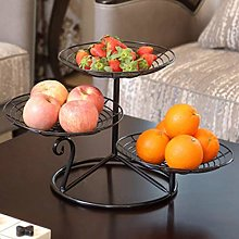 TELLMNZ 3-Tier Metal Fruit Basket Holder Modern