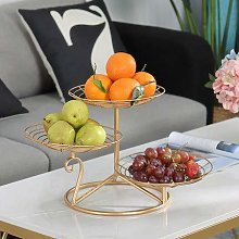 TELLMNZ 3-Tier Metal Fruit Basket Holder,Modern