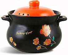 TELLMNZ Clay Casserole Pot Terracotta Stew Pot
