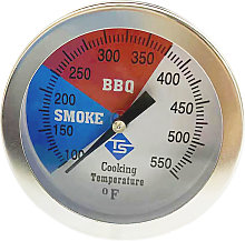 Temperature Gauge Barbecue BBQ Grill Smoker Pit