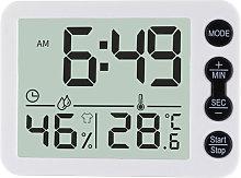 Temperature Humidity Indoor Clock Large Screen
