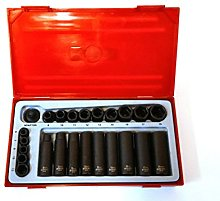 Teng Tools 24 Piece Impact Set In Tray Tool